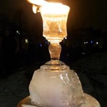 Frozen Fire - Invigningen av glaskonsten på Sandgärdsgatan, Domkyrkan Växjö